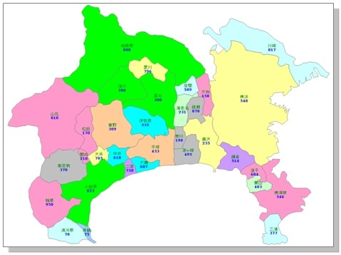 地図 神奈川 県 神奈川県 地理・地形・地図
